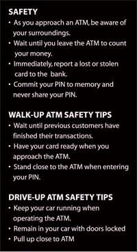 Safety Tips ATM Sign