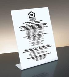 Equal Housing Lender, FDIC Banks