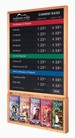 Rate Display w/ Hardwood Frame & Brochure Holder - 22