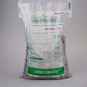 12 X 22 Tamper Evident Plastic Coin Deposit Bags Clear