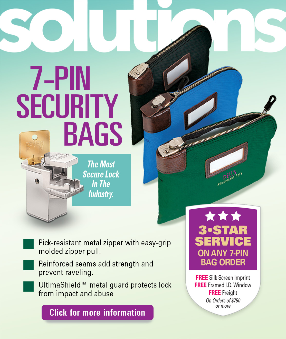 Locking Bank Bags